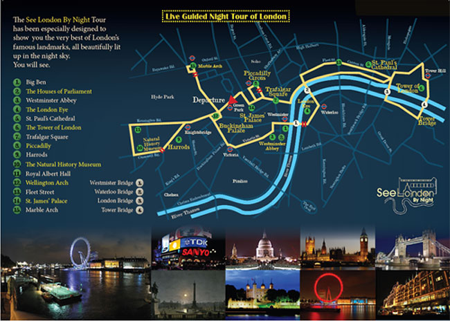 London by Night Route
